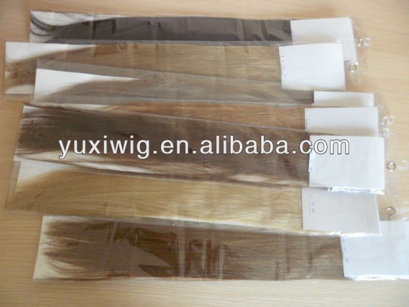 High quality 100% human remy white blonde tape hair extensions