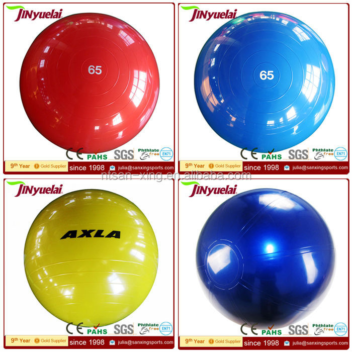 High quality PVC 45/55/65/75/85cm anti-burst exercise ball / hand exercise ball / Custom Eco Yoga Ball