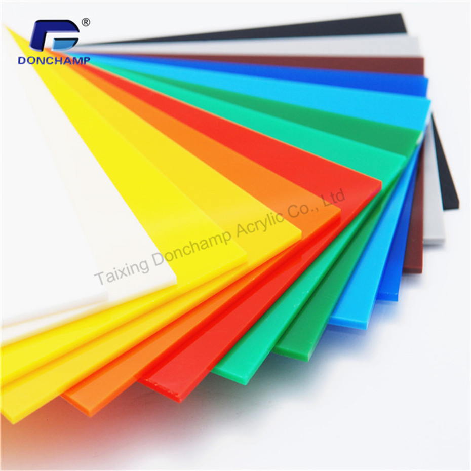 Direct factory price colored plexiglass pmma sheet