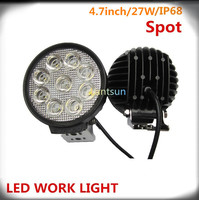 2015 spot/flood 5inch 24W automotive atv round LED work light for vehicle