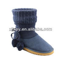 7128 blue knit boot socks with lace