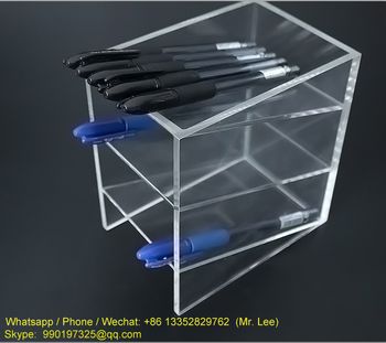 Cheap 3 tiers clear acrylic pencil display case