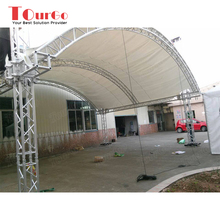 Tourgo Aluminum Spigot Truss Curved Roof Truss Design for stage Performance