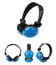 Colorful Retractable Bass Lovely Headband headset Headphone with CE RoHs