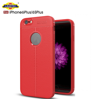 Slim Design Cover Litchi Texture Silicone TPU Cover Case for iPhone 6 Plus
