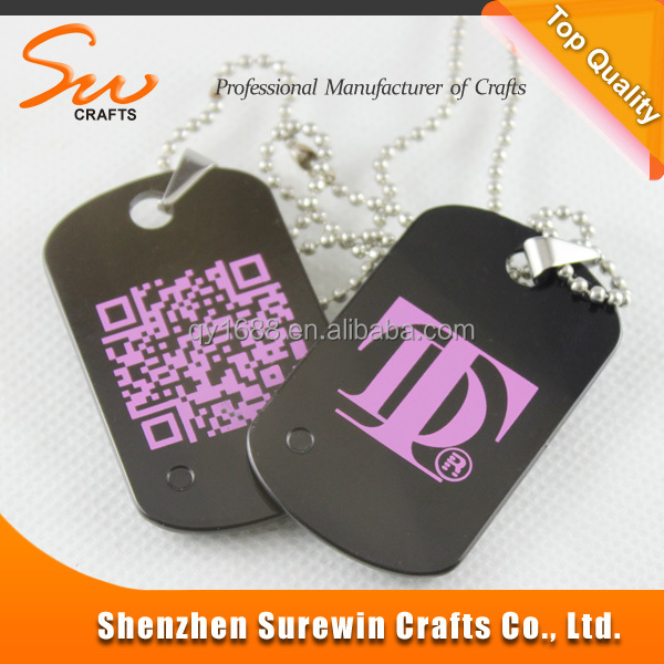 Custom Fashionable Exquisite Painted Black Dog Tag