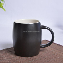 Factory selling wine barrel cup ceramic coffee mug advertising gift mug