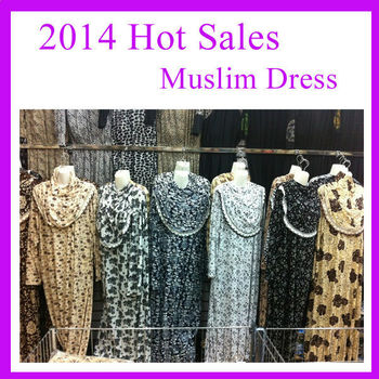 2014 hot sales new design muslim women rope dress