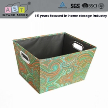 Quality durable wholesale price decorative eyelet storage tote box