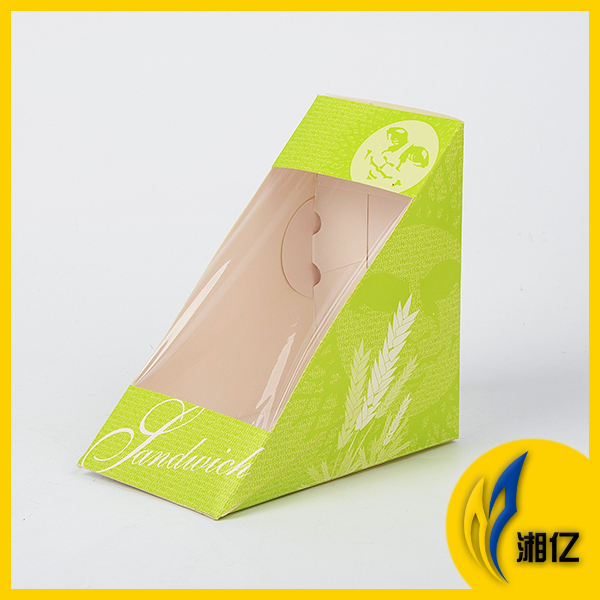Disposable food packaging triangle paper sandwich box