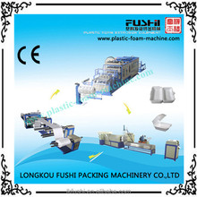 automatic ps foam thermoforming machine disposable container production line