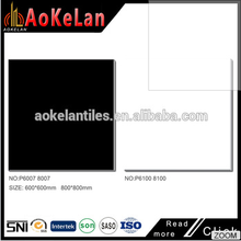 best selling porcelain material black/white ceramic tile 600 x 600mm floor tiles polished
