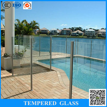 curved laminated tempered glass cost per square foot for pool glass fencing