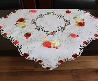100% polyester embroideried fruit tablecloth