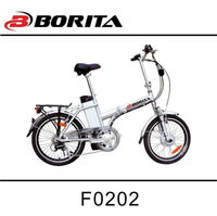 "20"" 250W 36V/8.8ah Brushless Motor Alumnium Small Folding Electric Bicycle"