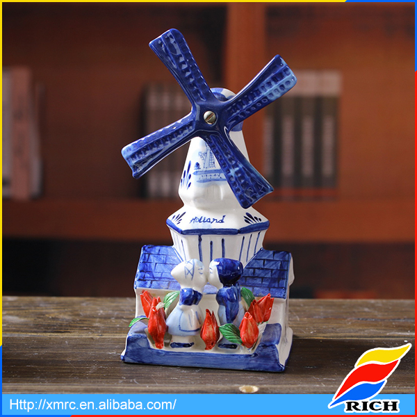 famous blue and white delft holland pottery windmills