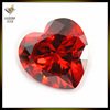 Large Garnet Heart 3x3mm~10x10mm Machine Cut 3A Loose Cubic Zirconia Stone DIY Jewelry Beads Charming Findings Components
