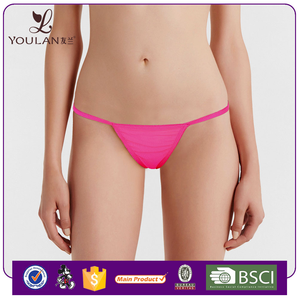2016 Fitness Young Lady Satin Panty Pics Sexy Girls C String Thong