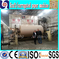 Hot selling recycle carton making machine, 10 T/D, 1092mm width, waste paper, bagasse, wood, bamboo, rice straw
