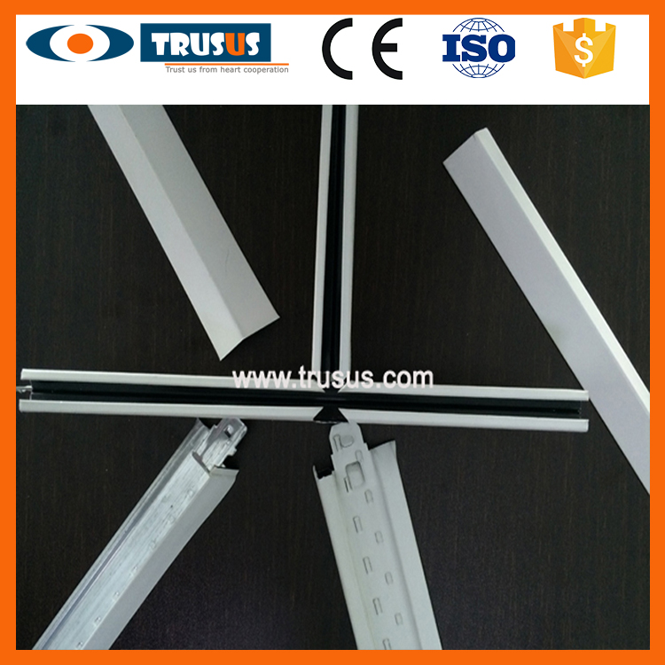 Frame Drywall Material Slotted Suspension Studded Ceiling System Exposed Studded Insulation T Bar T Grid T Runner