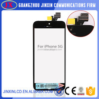 100% original black glass lcd touch screen digitizer assembly for iphone 5