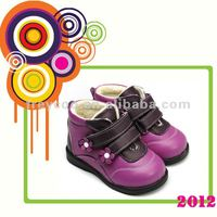 100% Authentic leather kids shoes, kids girl shoes PB-8011