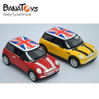 1:24 mini cooper die cast pull back toy car