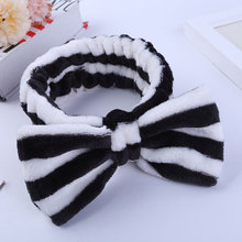 color astic bow headband accessories wholesale Customized striped Hai vintage hair band accessories headbands