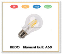 Led Filament Lamp Bulb A60 A19 E27 8w Led Filament