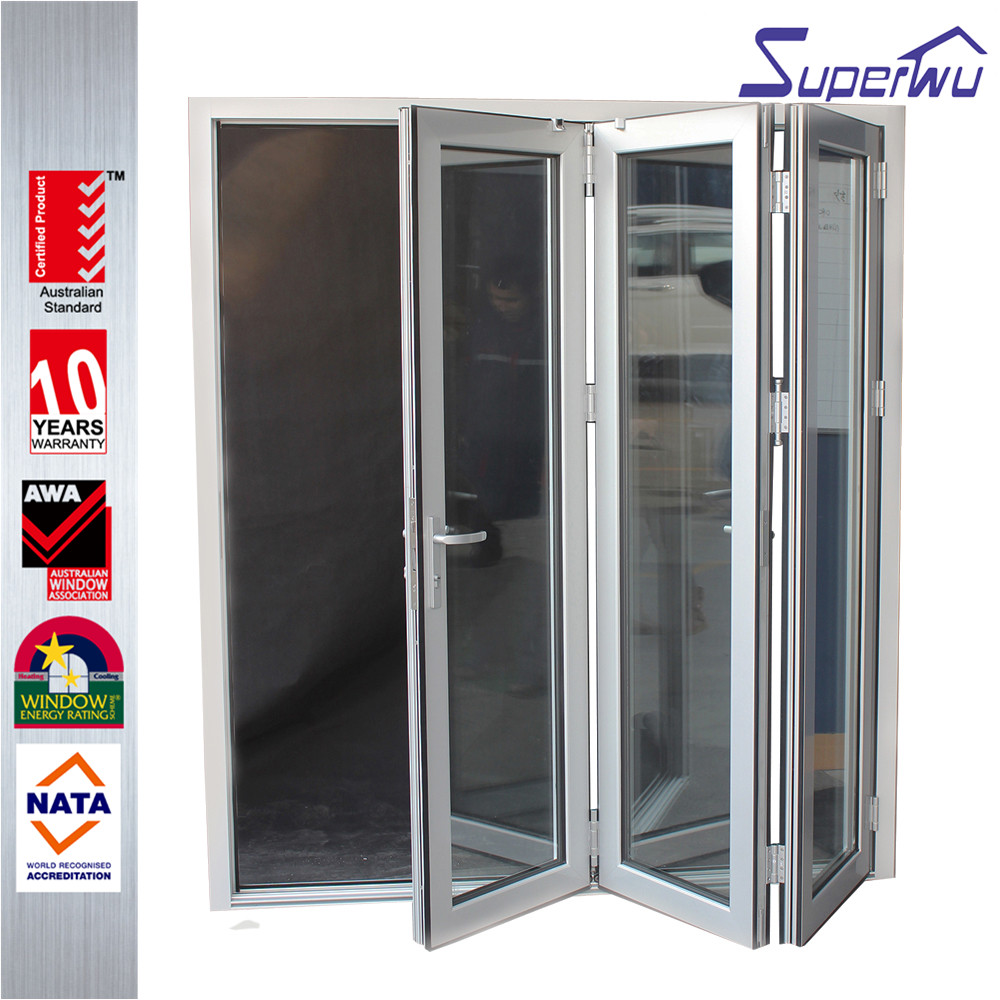 Superwu China manufacturer for bathroom pvc folding door