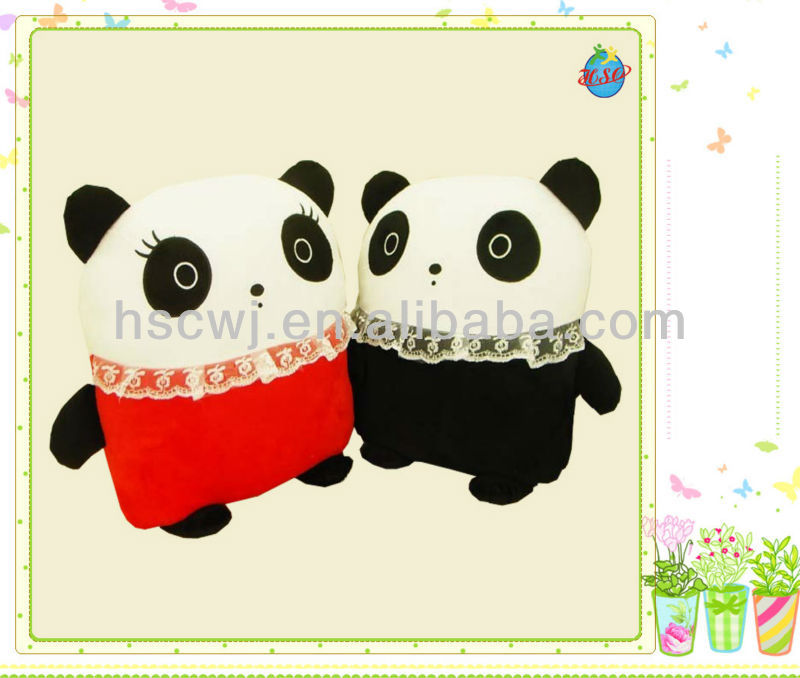 valentine panda soft stuffed plush toys