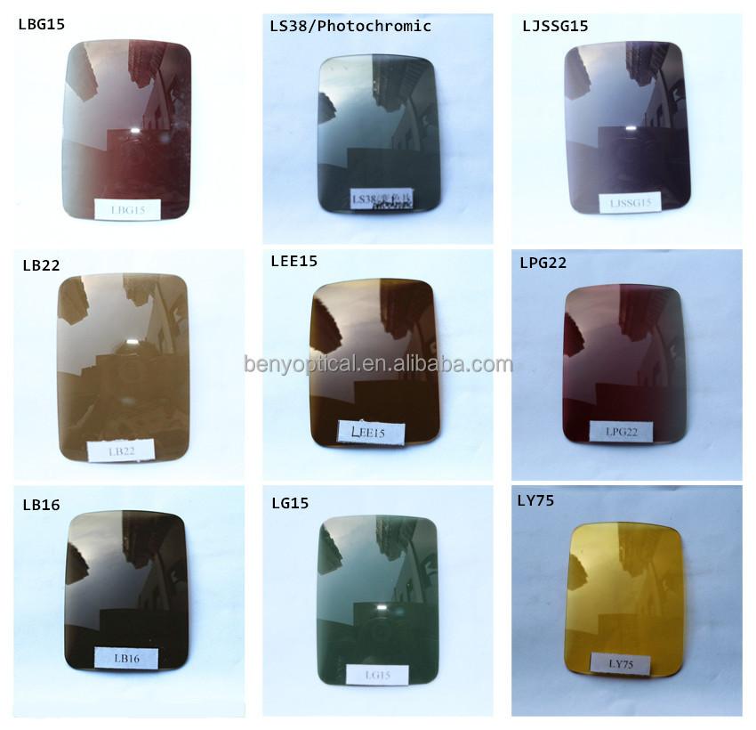 어두운 그라데이션 브라운 편광 광학 선글라스 렌즈 저렴한 가격 무료 샘플