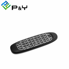 Alibaba Stock Hot Air fly mouse C120 mini USB Remote Control C120 Wireless Keyboard for Android tv box and Mini PC