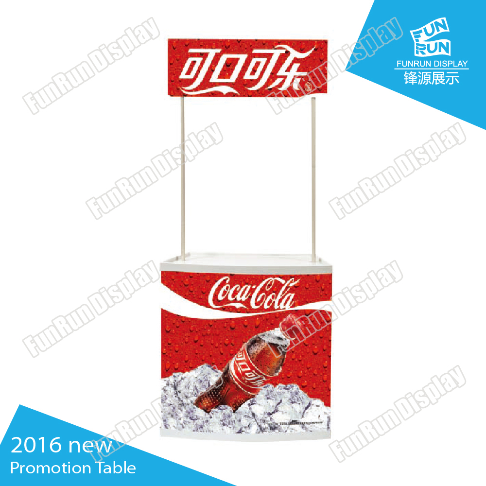 Pvc portable counter display stand for trade show