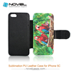 Dual Protective cell Phone Case for iphone 5C, convenient to use, blank phone cover, phone wallet, PU leather case