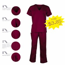 Soil Plain Dyeing Standard Design Practical Medical Scrubs