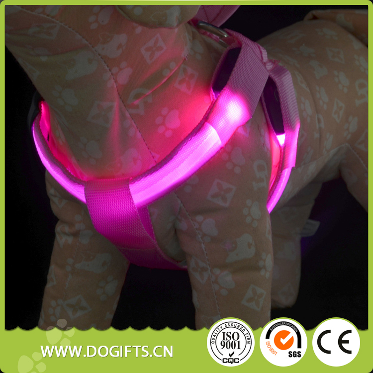 Best selling led padded dog harness Adjustable Reflective Soft Breathable Mesh Dog Harness For Small <strong>Pets</strong>
