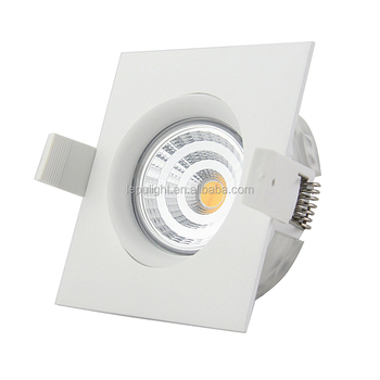 Lepu GYRO Anti-glare spring clip cct dimming recessed cob led downlight housing ip44 9w