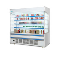Multi-desk Open Beverage Chiller /Customize Adjustable Drinks Coolers /Multideck Open Chiller