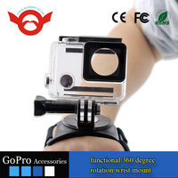 2016 New arrival gopro wristband accessories ,Go pro glove style wrist strap mount belt for gopro hero 4 3 session sjcam camera