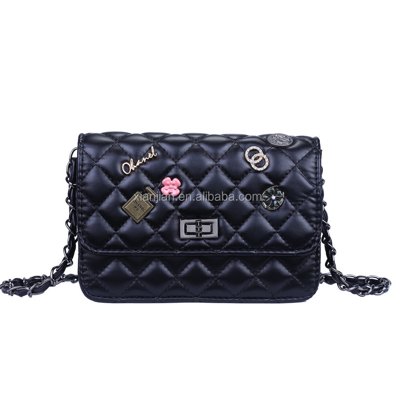 Hot High Quality Xianjian Lady's Newest Design brand bags woman ,Quilted Small Shoulder Crossbody Bag, ladies bags handbag