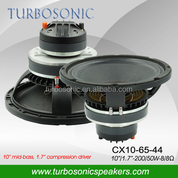 Audio system loudspeaker coaxial 10'' with aluminum speaker basket