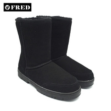 FD 3011 High quality leather sheepskin snow boots for women and men