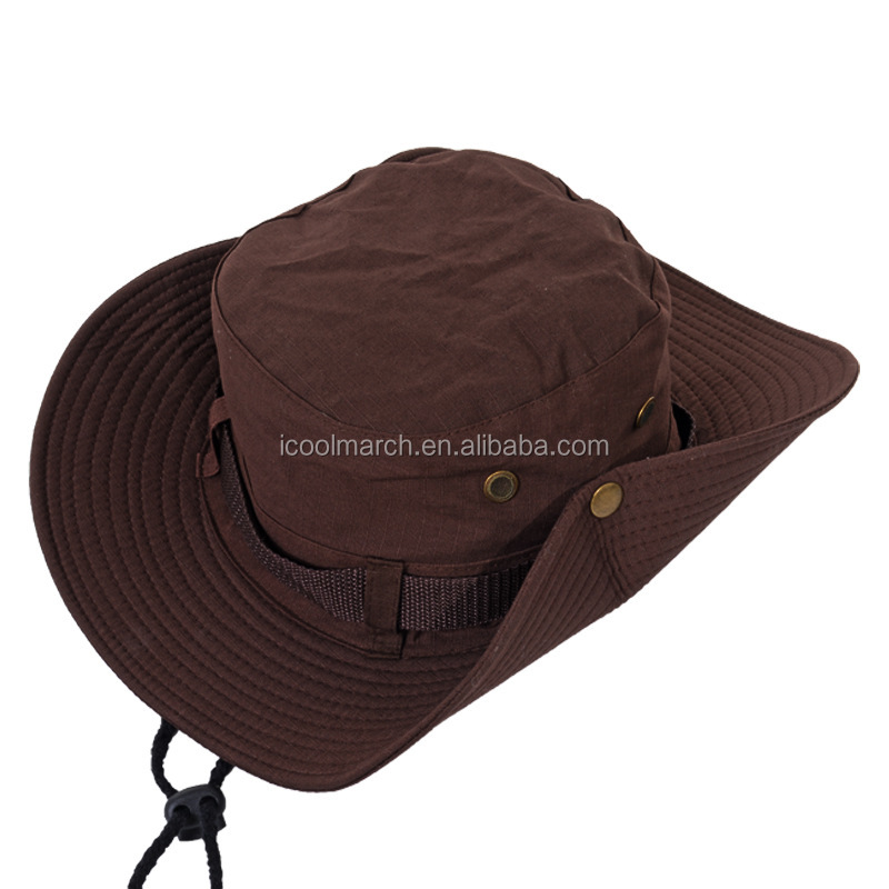 Coolmarch Summer Outdoor Bucket Hats Sun Protective Folding Fishing Cap Wide Brim Boonie Safari Hat