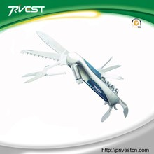 aluminum handle multi knife plus cleaner nail&scissor Wild Applications Universal Steel Multiplex LED Swiss Knife