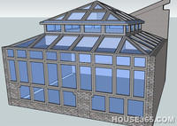 Stained glass green house roof with tempered glass insulated