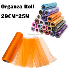 Premium Sheer Organza Fabric Rolls Wedding Decoration Organza Roll