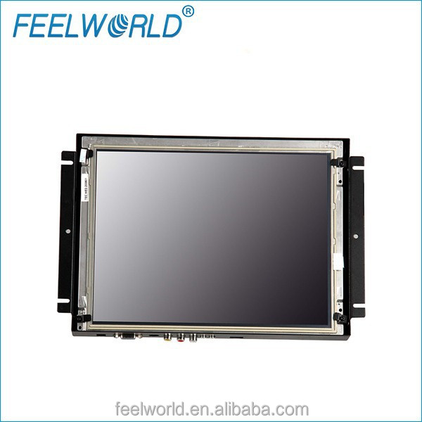 12.1'' kiosk lcd monitor with DVI HDMI VGA and RS232 USB touch interface