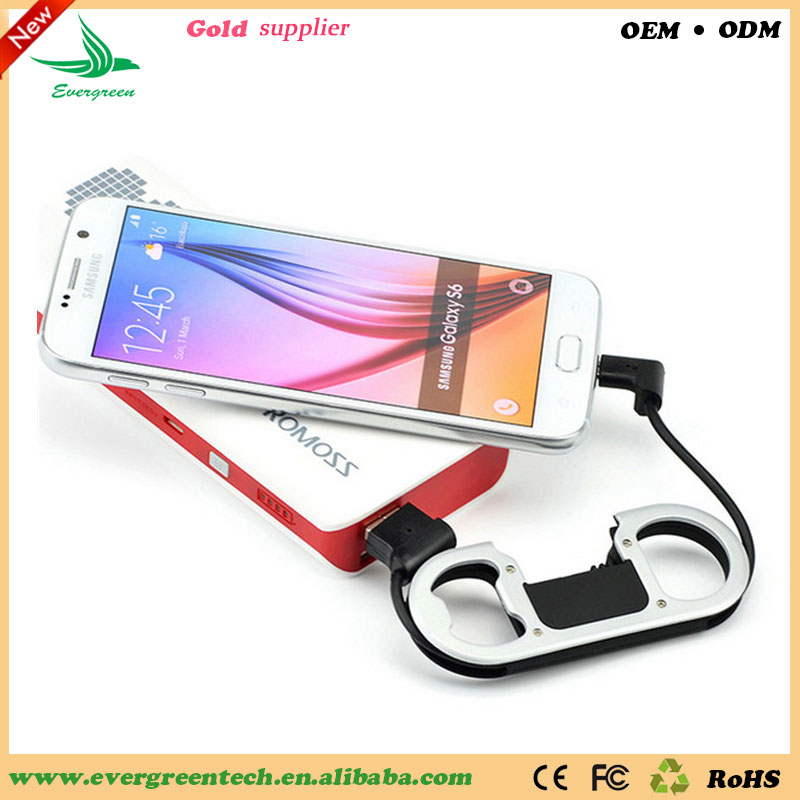 Evergreentech Portable USB Cable For Smartphones Wholesale 3IN1 Useful Data Deliver Cable Bottle Opener Cable