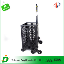 Factory supply customized professional four wheel shopping trolley cart